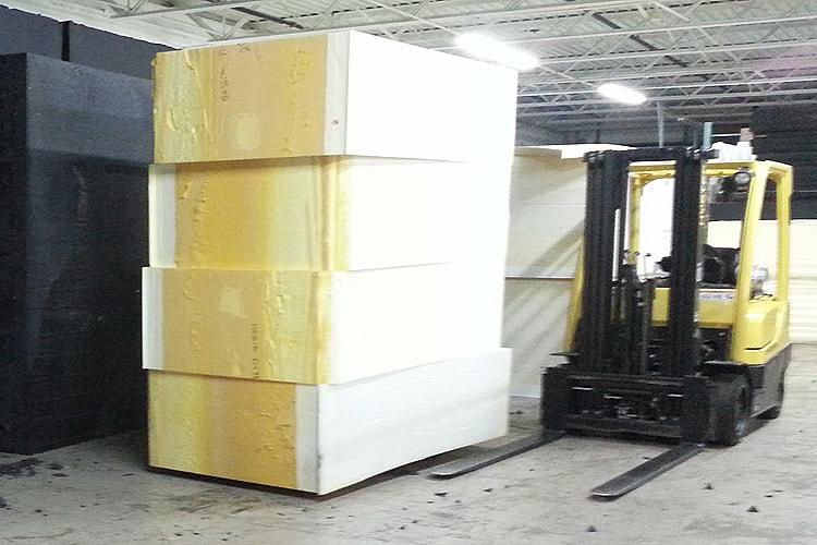 Поролон в блоках